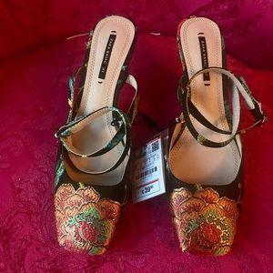 Zara floral heels